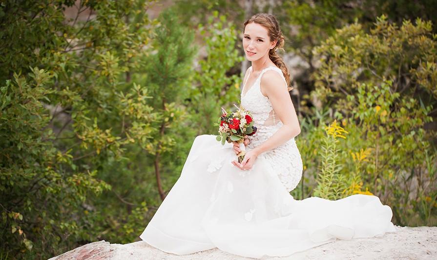 Podzimní svatební kytice. Svatební floristika Klára Uhlířová Brno