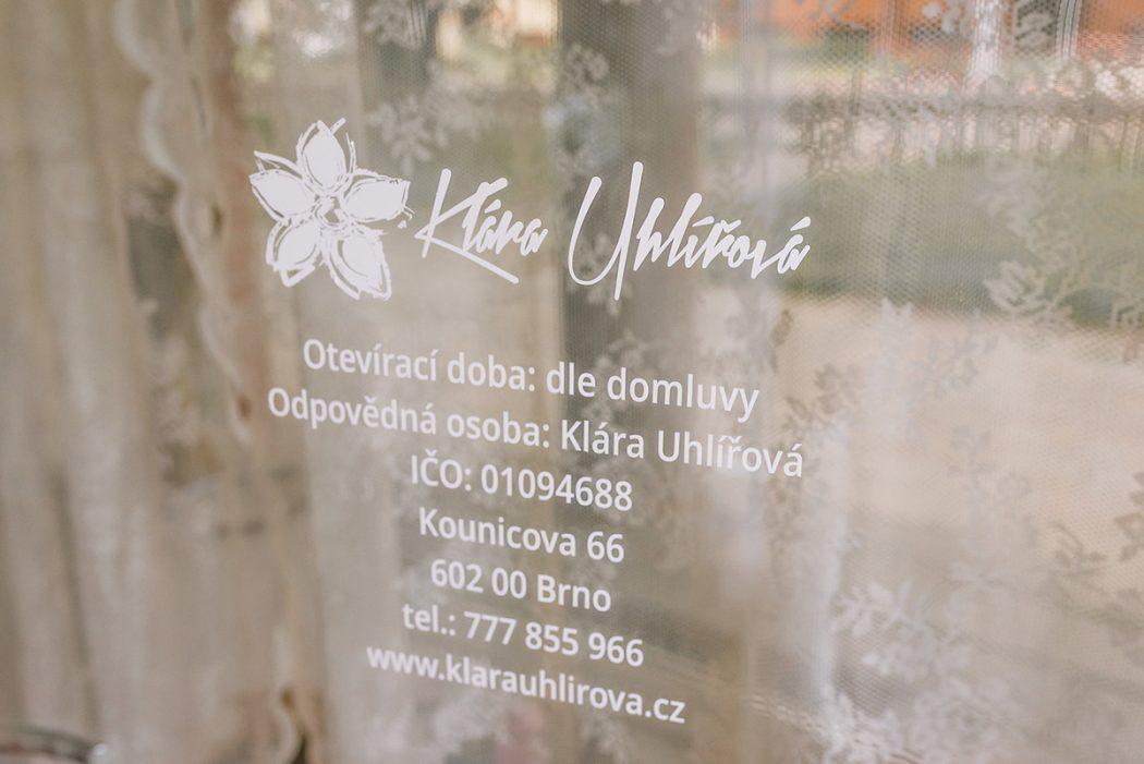 Kontaktní údaje na firmu Klára Uhlířová Brno - svatební květiny