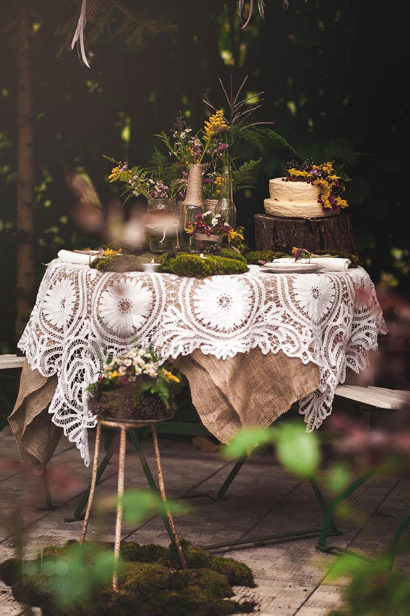 Výzdoba svatební tabule pro dva