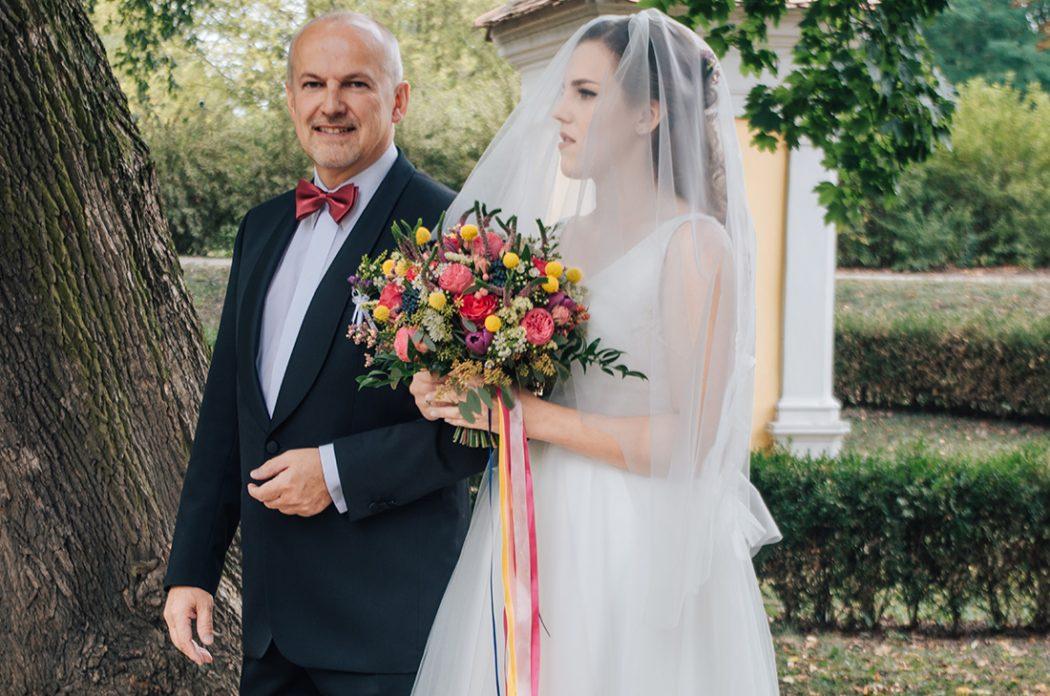 Nejbarevnější svatební kytice roku 2017. Svatební květiny Klára Uhlířová