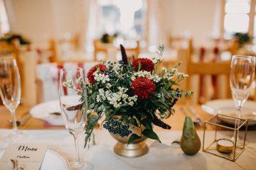 Boho dekorace na svatební tabuli. Svatební květiny Klára Uhlírová