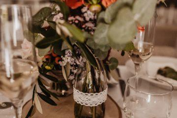 Boho dekorace na svatební stůl. Svatební květiny Klára Uhlírová