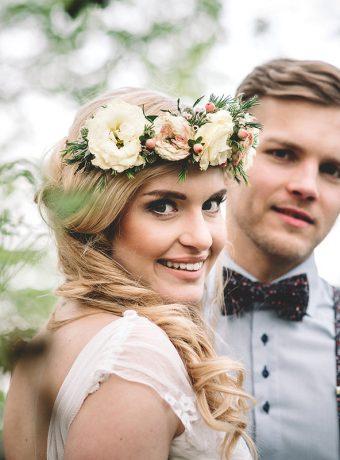 Maxi věnec do vlasů. Svatební květiny Klára Uhlírová
