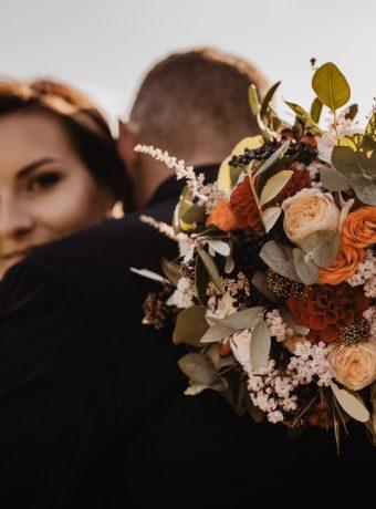 Podzimní svatební kytice. Svatební květiny Klára Uhlířová